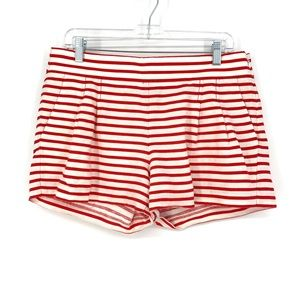 J. Crew Factory 10 Pleated Front Shorts Red White